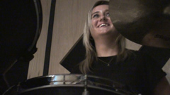 Paige On Drums